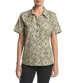 Breckenridge® Collared Woven Top