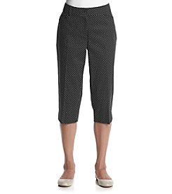Studio Works® Petites' Dot Capri Pants