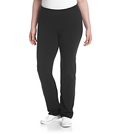 Calvin Klein Performance Plus Size High Waist Narrow Straight Leg Pants