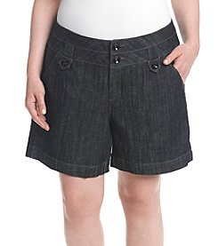 One 5 One® Plus Size Front Tab Shorts