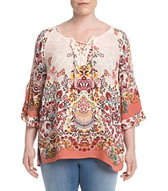 Democracy Plus Size Cold Shoulder Top
