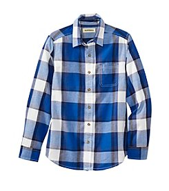 Ruff Hewn Boys' 8-20 Poplin One Pocket Plaid Shirt