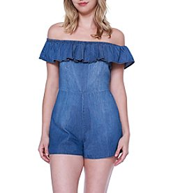 Skylar & Jade™ Off-Shoulder Denim Romper