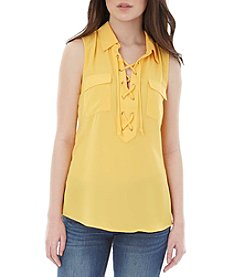 A. Byer Lace-Up Top