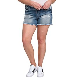 Silver Jeans Co. Plus Size Aiko Raw Hem Shorts