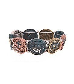L&J Accessories Inspirational Round Links Stretch Bracelet
