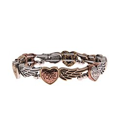 L&J Accessories Heart Angel Wing Stretch Bracelet