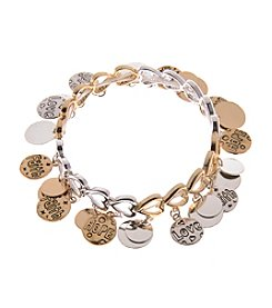 L&J Accessories Disc Shaky Inspirational Stretch Bracelet