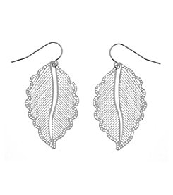 L&J Accessories Leaf Drop Earrings