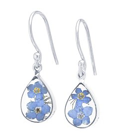 Athra Flowers Teardrop Earrings
