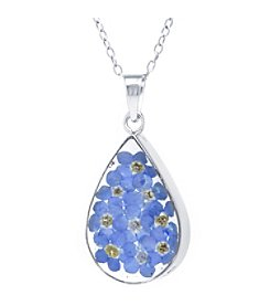 Athra Dried Flowers Teardrop Pendant