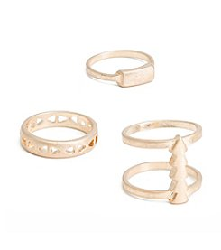 Robert Rose Three Piece Arrow, Cut Out, Bar Ring Set