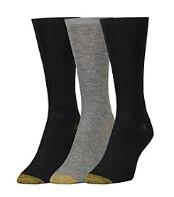 GOLD TOE® Women's 3-Pack Non-Binding Socks