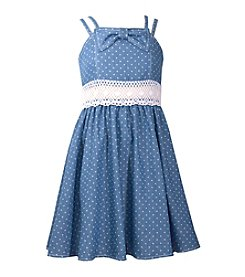 Bonnie Jean® Girls' 7-16 Double Strap Polka Dot Fit N Flare Dress
