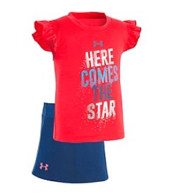Under Armour® Baby Girls' 12M-24M Here Comes The Star Top/Skirt Set