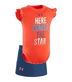 Under Armour® Baby Girls' Newborn-12M Here Comes The Star Bodysuit/Skirt Set