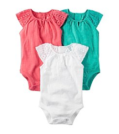 Carter's® Baby Girls' 3 Pack Bodysuit Set