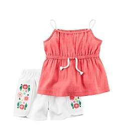 Carter's® Baby Girls' 2-Piece Tank And Shorts Set