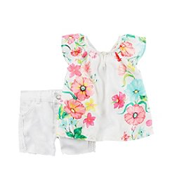 Carter's® Baby Girls' Flutter Sleeve Floral Tank Set