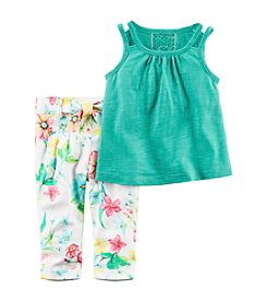 Carter's Baby Girls' Tank and Floral Pants Set
