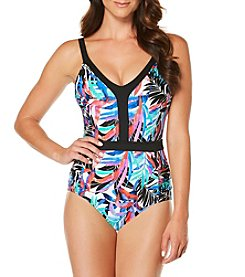 Jantzen® Tropical Floral V-Neck One Piece