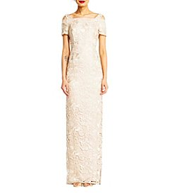 Adrianna Papell® Lace Cold-Shoulder Gown