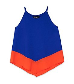 Amy Byer Girls' 7-16 Colorblock A-Line Tank Top