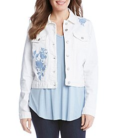 Karen Kane® Embroidered Denim Jacket