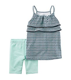 Carter's® Baby Girls' Tiered Tank with Stripe Jersey Short Set