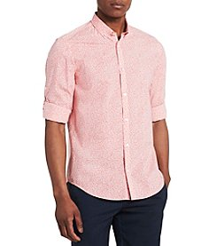 Calvin Klein Men's Micro Floral Button Down Shirt