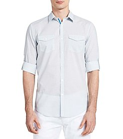 Calvin Klein Long Sleeve Roll Up Voile Button Down Shirt