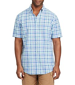 Chaps® Men's Big & Tall Plaid Linen Cotton Shirt