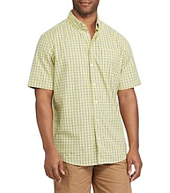 Chaps® Stretch Poplin Button Down Short Sleeve Sport Shirt