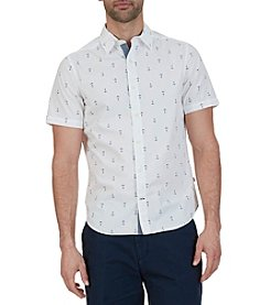 Nautica Men's Short Sleeve Anchor Print Shirt