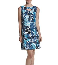 Gabby Skye® Leaf Print Dress
