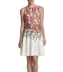 Gabby Skye® Floral Printed Fit and Flare Dress
