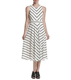 Jessica Howard® Stripe Printed Dress
