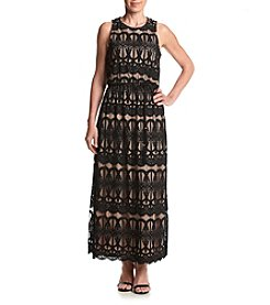 Jessica Howard® Petites' Lace Blouson Maxi Dress