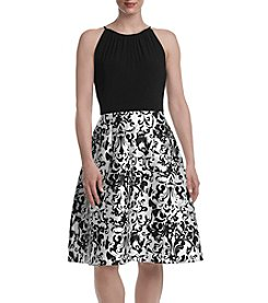 Adrianna Papell® Printed Skirt Fit and Flare Dress