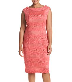 Gabby Skye® Plus Size Lace Sheath Dress