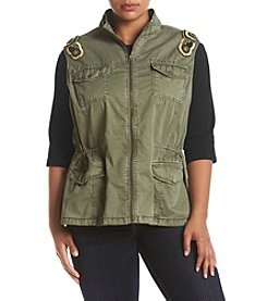 Ruff Hewn Plus Size Military Embroidered Vest