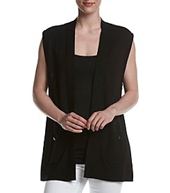 Anne Klein&Reg; Sleeveless Cardigan