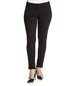 Calvin Klein Petites' Zip Pocket Ponte Pants