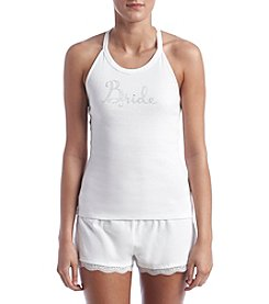 Betsey Johnson® Lace Trim Short Pajama Set