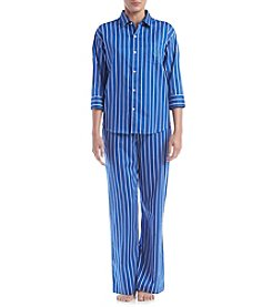 Lauren Ralph Lauren® Navy Striped Pajama Set