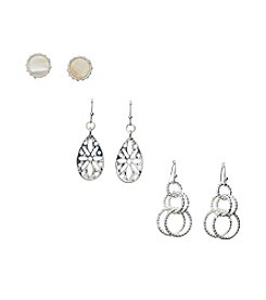 Studio Works® Stud And Drop Earrings Trio