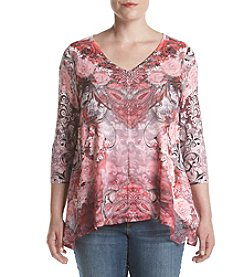 Oneworld® Plus Size Date Night Top
