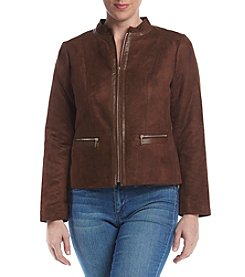 Laura Ashley® Petites' Faux Suede Jacket