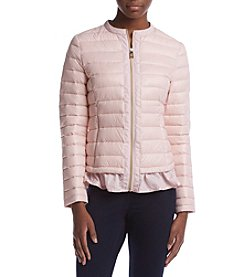 Ivanka Trump® Ruffle Hem Packable Jacket