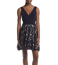 Xscape Embroidered Party Dress